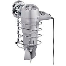 Tatkraft Megalock 11441 - Soporte para secador de pelo, ventosa, acero cromado, 10cm