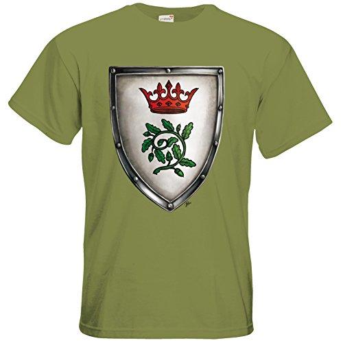 getshirts - Das Schwarze Auge - T-Shirt - Die streitenden Königreiche - Wappen Andergast S Green Moss