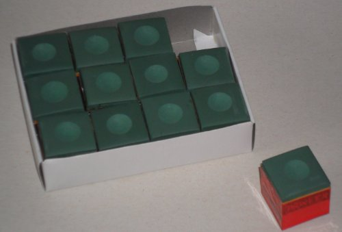 12 Stück Billard-Kreide in grün