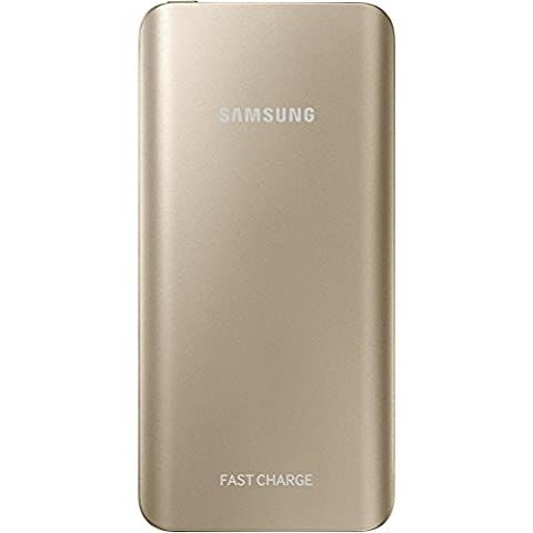 Samsung Rechargeable Portable Battery Pack with Fast Charging, 5200 mAh - Gold
