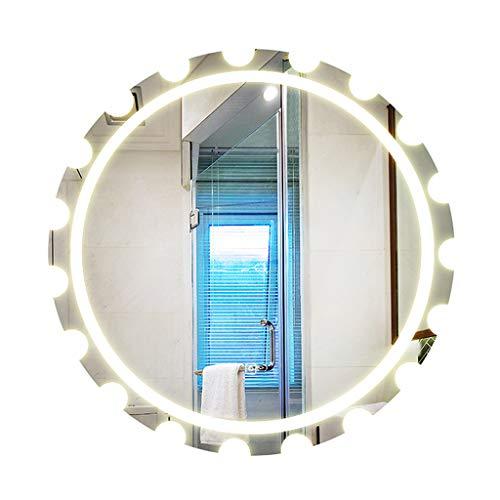 LED Iluminado Espejo del BañO Moderno Redondo Montado En La Pared Espejo De  Tocador con Luces 813c1cc01d66