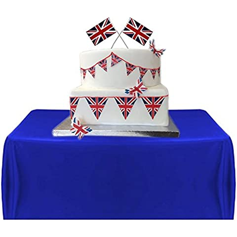 Royal Union Jack Style Bunting Edible Icing Sheet Cake Toppers Decorations by Top That