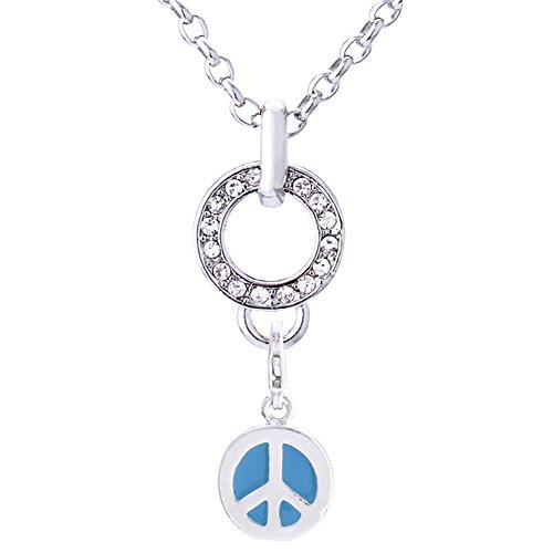Morella acero inoxidable Charm Collar de 70 cm y colgante símbolo de