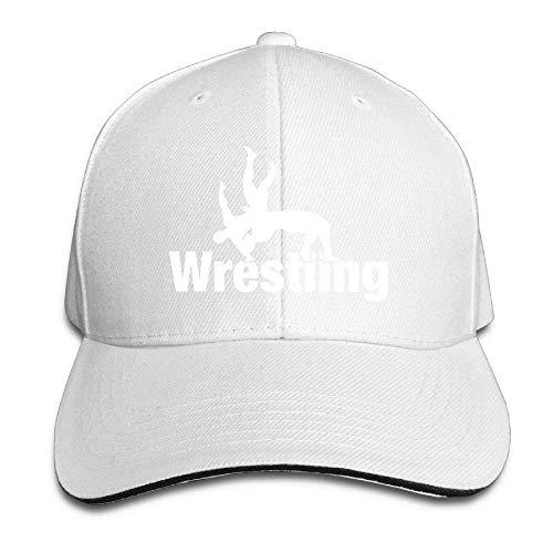 MACITA Premium Men Women Baseball Cap, Wrestling Clipart Adult Adjustable Snapback Hats Sandwich Cap