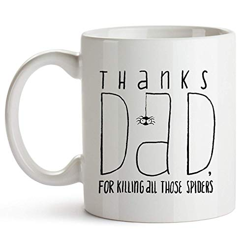 Novelcustom Thanks Dad, for Killing All Those Spiders for Men Funny for Him Husband Gifts for Dad New Dad Gift Mugs with Sayings Funny Mug Coffee Daddy, 11oz Coffee Mug