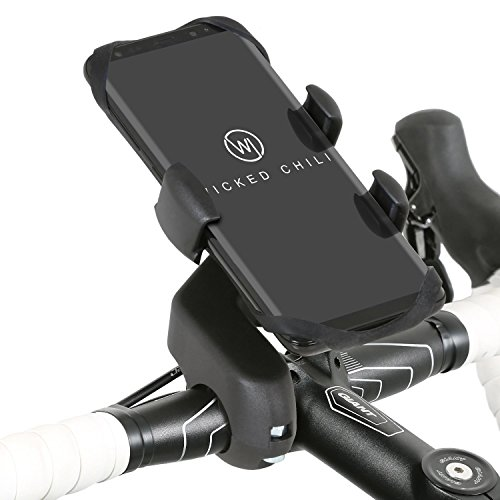 Wicked Chili Pro Mount Bike - Fahrrad/Motorrad Design Halterung für Samsung Galaxy S8 / S8+ / S7 / S7 Edge / S6 Edge / S6 / S5 / A3 / A5 / Note 8 / J5 Smartphone (Case kompatibel, Made in Germany)