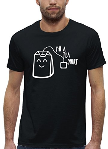 Lustiges Premium Herren T-Shirt aus Bio Baumwolle mit I'm A Tea Shirt Stanley Stella Black