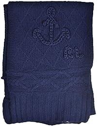 Ralph Lauren Echarpe tricotée bleu marine en laine pour femme 68f288988ce