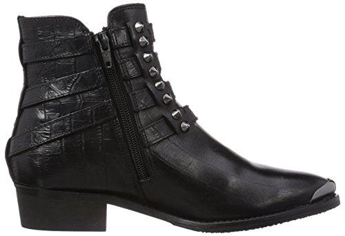 Pepe Jeans London HEDREN OPEN STRAPS Damen Kurzschaft Stiefel Schwarz (Black 999)