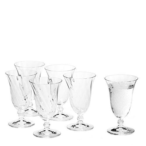 Leonardo Volterra Wasserglas, 6-er Set, 270 ml, spülmaschinengeeignet, Klarglas, 020766