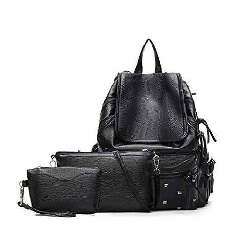 Kühle Art Handtasche Art Und Weise Befestigt Dreiteilige Bildpackung Schulranzen (März Glas)