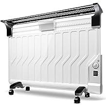 MEI XU Calentadores eléctricos Calentador de hogar-versión mecánica blanca Calentador de radiador de aceite