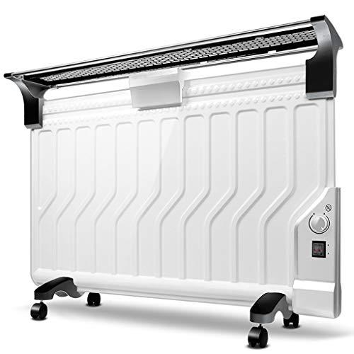 Lxn Weiße mechanische Version Öl gefüllte Heizkörper-Heizung Mini Portable elektrische Raumthermostat, ultradünne und energiesparend (2200W) (Portable öl Gefüllt Heizung)
