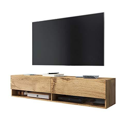 Wander - Fernsehschrank/Tv-Lowboard In Wotan Eiche Hängend 140Cm