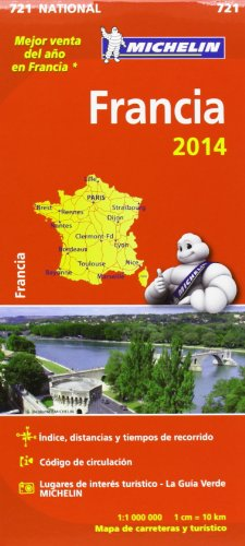 Mapa National. Francia 2014 (Mapas National Michelin)