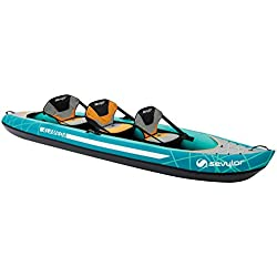 Sevylor Kayak Gonflable Alameda, Canoë Canadien 2+1 Personnes, Kayak de Mer, 368 x 86 cm