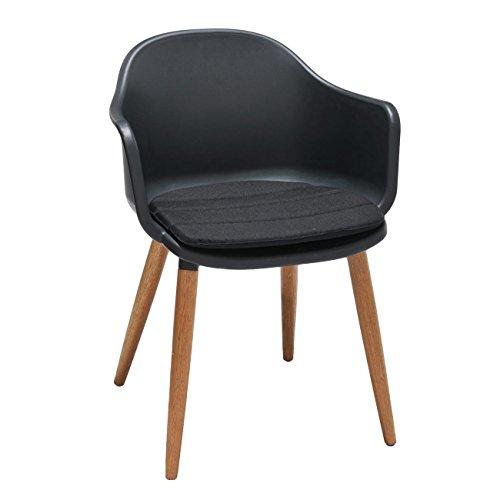 OUTLIV. Designstuhl mit Sitzkissen Annecy Schalenstuhl Esszimmerstuhl Gartenstuhl Modern...