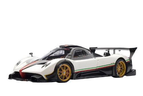 pagani-zonda-r-white-italian-stripes-autoart-118