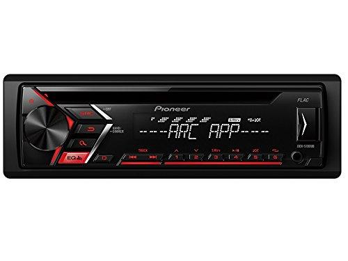 Pioneer Radio DEHS100UB 1 DIN rot USB mit Einbauset für Mini (R50) One/Cooper 2003-2006