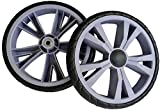 2 x Deluxe XL Replacement Spare Wheels for Two Wheeled Shopping Trolleys and Carts