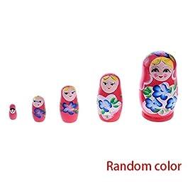 F-blue Russian Nesting di Legno Matryoshka Dolls Set Dipinto a Mano Ornamento del Giocattolo del Bam