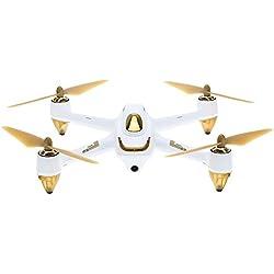 Hubsan H501S X4 Brushless FPV Drone GPS avec Caméra 1080P HD 5.8Ghz Mode sans Tête Une-clé Retour Maintien d'Altitude Follow Me (H501S Blanc)