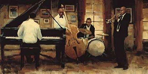The Poster Corp Myles Sullivan - All That Jazz Kunstdruck (60,96 x 121,92 cm) (Jazz Poster All That)