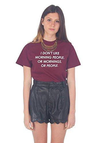 Sanfran Clothing Damen T-Shirt Kastanienbraun