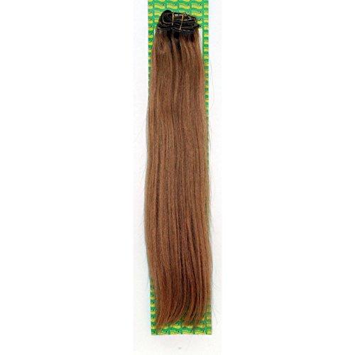 'Dream Hair Extensions à clip Lot de 8 Pièces lisse 22/56 cm blond doré foncé extensions de cheveux