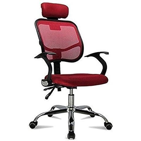 ridgeyard asiento giratorio ajustable tela de malla respaldo oficina mesa para ordenador silla con brazos,