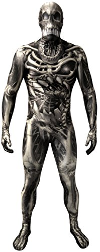 Skull and Bones Morphsuit Verkleidung, Kostüm Large - 5'5-5'9 ()