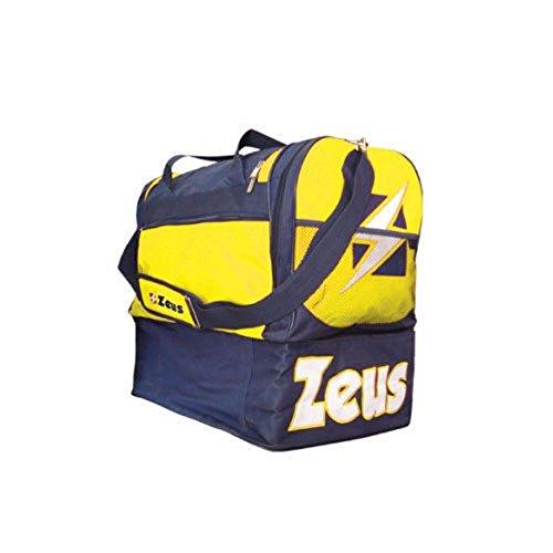 Zeus Herren Sporttasche Schultergurt Umhängetasche BORSA DELTA (BLAU-ROT) BLAU-GELB