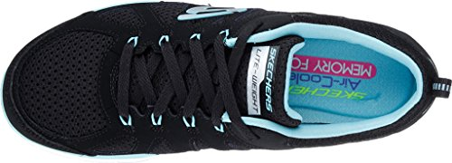 Skechers Flex Appeal 2.0 Simplistic Women's Trainers fitness Lite Weight black Black/turquoise