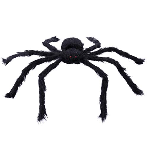 BESTOYARD Schwarze Spinne Plüsch Spielzeug Karneval Party Scary Dekoration Haunted House Prop Indoor Outdoor Hof ()