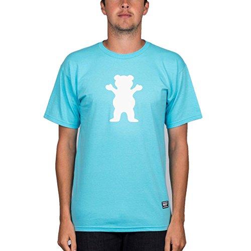 Grizzly 'Og Bear Logo' Tee. Pacific Blue.