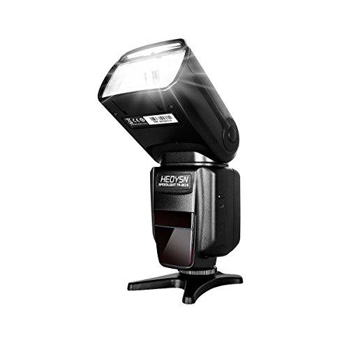 HEOYSN Speedlite Blitzgerät für Canon HSS 1/8000S TTL Kamerablitz Flash mit King PRO-FSK2.4G TTL Kabellos Blitz Auslöser für Canon DSLR-Kameras mit Multi Interface Shoe