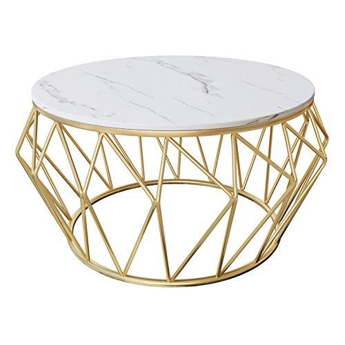 Wohnzimmer-moderne Sofa-tisch (Nordic Marmor Couchtisch/Beistelltisch für Wohnzimmer, Moderne Möbel Sofa Tisch, runde Lesung/Esszimmer/Cocktail/Snack Couchtische)