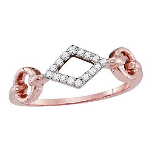 Sonia Jewels - 14 Kt Rotgold Rundschliff Leicht Getöntes Weiß/Crystal (J) Weißer Diamant