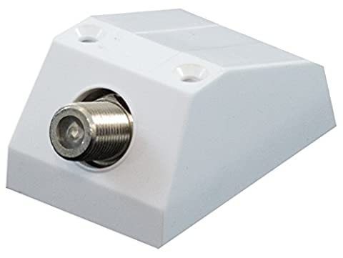 F Connector Female Socket Satellite / Cable TV Wall Outlet