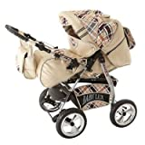Lux4Kids Kinderwagen Set Babywanne Sportsitz Babyschale Wickeltasche Matratze Buggy optionales Zubehör 3in1 oder 2in1 Set Made in EU King
