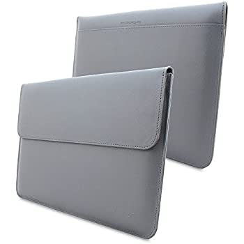 TheSnugg B00FJ6FZXW 13Zoll Ärmelhülle Grau Notebooktasche - Notebooktaschen (33 cm (13 Zoll), Ärmelhülle, Grau, Baumwolle, Polyurethan, Einfarbig, Nubuck fibre)