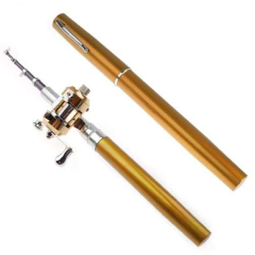 deanyi Golden mini Pocket lega di alluminio pesce penna canna da pesca baitcasting