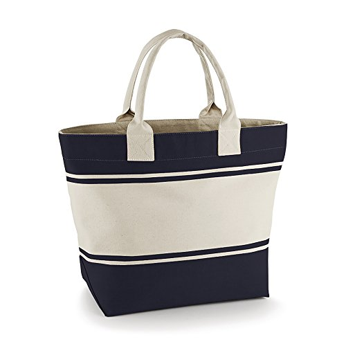 Quadra - Borsa in Canvas Kiwi/Naturale