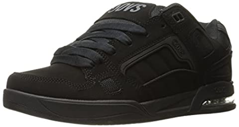 DVS Men's Drone Soco Skateboarding Shoe, Black Leather Nubuck Anderson, 8.5 M US