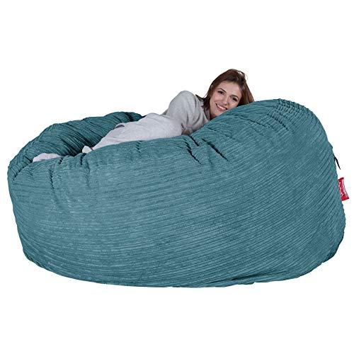 Lounge Pug®, Riesen Sitzsack Sofa C1000-L, CloudSac Latexflocken-Mischung, Schlafsofa, Cord Türkis