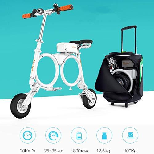 QIONGS Zwei-Rad-Elektro-Faltrad, 20 km/h, Driving Range 25-35KM, elektrisches Fahrrad, auswechselbare Lithium-Ionen-Batterie, Aluminium Rahmen, E-Bikes