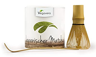 VegaVital Matcha Tee aus Japan 100% Bio, vegan, 100g, im Set mit Orginal Matcha Besen und Löffel inkl. kostenlosem eBbok! von VegaVital UG auf Gewürze Shop