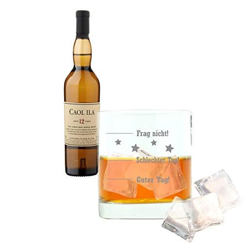 Caol ila 647650 - set di 2 bicchieri da whiskey da 12 anni/anni, per single malt, whisky, scotch, alcol, bevande di alcool, 43%, 200 ml, con incisione