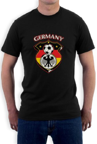 Deutschland Fußball-Weltmeisterschaft T-Shirt Schwarz