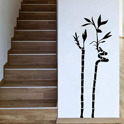 sybdnr 52 * 40cm Ornamentali piante interne Spirale di bambù Pianta decalcomanie Whindow Adesivo Camera da letto Decor rimovibile Vinyl Art Wall Sticker